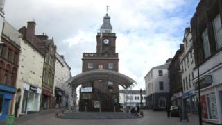 Dumfries town centre