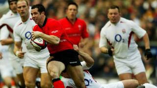 Gareth Cooper playing against England