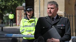in_pictures Police Chief Constable John Campbell speaks to the media at the entrance at Forbury Gardens in Reading town centre