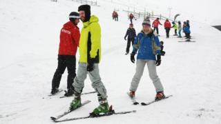 Skiing at Nevis Range