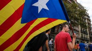 catalan flag in Barcelona