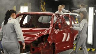 Slovakya'da bir otomobil fabrikası