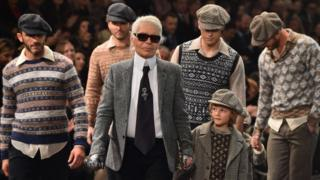 Karl Lagerfeld at show