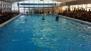 The pool is used by primary schools and the community in Fivemiletown