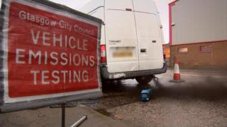 A vehicle which failed the roadside emissions test