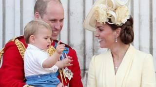 Duke of Cambridge, Duchess of Cambridge and Prince Louis