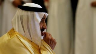 "Saudi Arabia""s King Salman bin Abdulaziz Al Saud at a summit of Gulf Cooperation Council leaders in Riyadh, Saudi Arabia May 21, 2017."