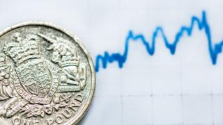A pound coin with a graph