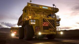 Large mining truck