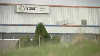 The former Visteon factory site in west Belfast