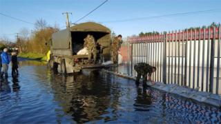 Members of the Irish Army have been assisting in efforts to contain water levels