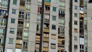 Zgrada na Novom Beogradu
