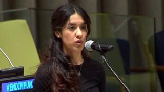 """الأيزيدية ناديا مراد: من """"الاستعباد"""" إلى نوبل للسلام"""