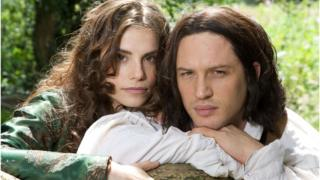 Charlotte Riley and Tom Hardy in ITV's Wuthering Heights