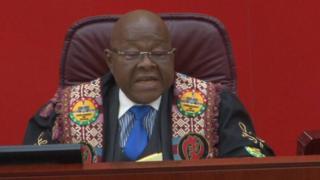 Ghana Speaker of Parliament Professor Mike Aaron Oquaye