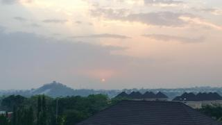 Abuja skyline at sunset