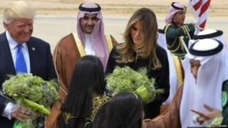 डोनल्ड ट्रंप, सऊदी अरब, अमरीका