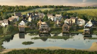 An artist's impression of the Silverlake holiday resort