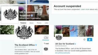 Scotland Office social media profiles