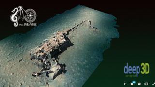 3D image of the sunken boat