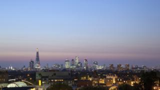 The London skyline seen from Peckham