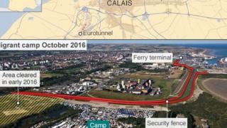 Sansanin 'yan gudun hijirar Jungle da ke Calais a Faransa