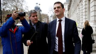 Olly Robbins in Whitehall