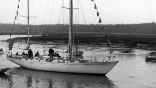 Gipsy Moth IV leaving the Beaulieu River
