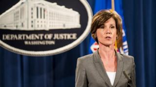 Bà Sally Yates bị sa thải khỏi chức quyền bộ trưởng tư pháp