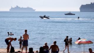 Bournemouth beach on Friday
