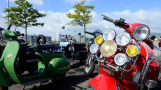The Vespa World Days event is being hosted in Belfast's Titanic Quarter