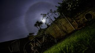 Moon halo, as seen from Bristol