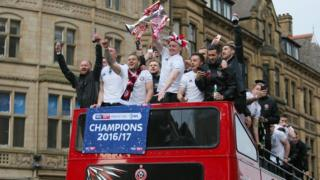 Sheffield United open-top bus parade