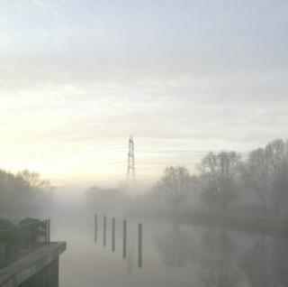 Mist at sunrise in Sandford on Thames