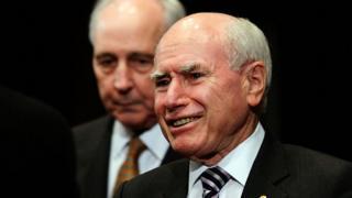 Former Australian prime minister John Howard,