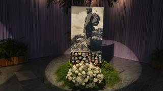 Homenaje a Fidel castro en la Plaza de la Revolución.