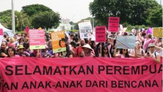 Aksi Pawai Perempuan atau Women's March yang berlangsung di Jakarta, Maret 2017 lalu.
