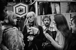 Brian Jones, Nico, Dennis Hopper and Judy Collins backstage at Monterey Pop Festival, Monterey, California, 1967