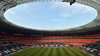 Донбасс Арена 15 июня 2012 года во время матча Евро-2012