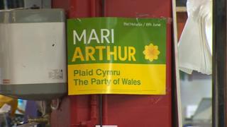 Mari Arthur election poster