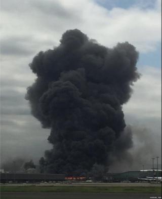 Picture of Japan steel plant fire taken by Twitter user Daisuke_Trip