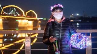 中朝边境上的中国小贩