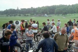 Start of the first ride, from The Forest in June 1982