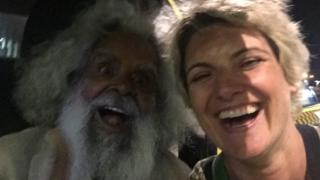 Actor Uncle Jack Charles and his manager Patrice Capogreco, 28 October 2015
