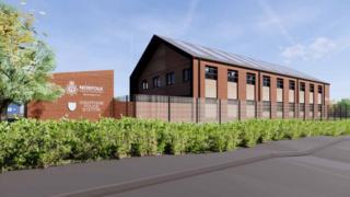 Artist's impression of the new Swaffham police station