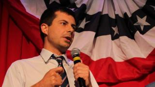 Pete Buttigieg speaking at an event in 2016