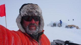 Prof Hubbard in Antarctica