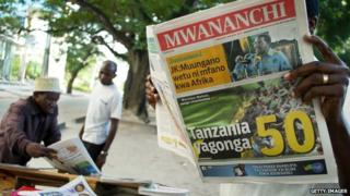 Newspaper in Tanzania