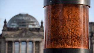 Berlin Holocaust ashes memorial, 3 Dec 19