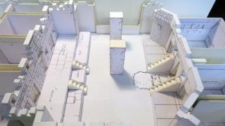 Paper model of the Aztec zone